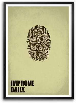 Improve Daily Startup Inspiring Quotes Paper Print