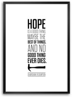 Hope Is A Good Thing Shawshank Redemption Movies Framed Poster Paper Print(16.5 inch X 11.7 inch)