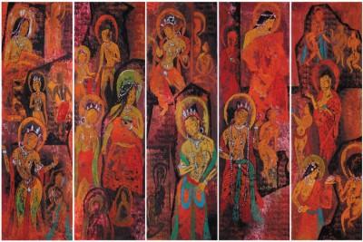 BikriKendra tibetan thangka painting poster Poster Paper Print