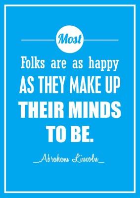 Happy Folks - Abraham Lincoln Paper Print