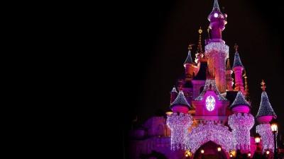 Disney land Palace cartoon Poster Paper Print