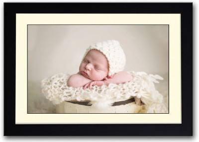 Baby Sleeping In Yellow Bucket Fine Art Print