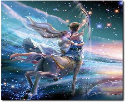 Stybuzz Sagittarius Horoscope Frameless Canvas Art(22 inch X 18 inch)