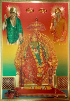 Shree Sai Baba Ji Blessing Poster FCS Fine Art Print