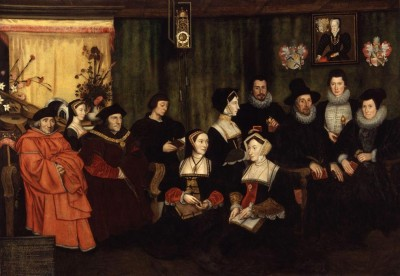 Rowland Lockey, after Hans Holbein the Younger. Sir Thomas More, his father, his household and his descendants (Medium) Paper Print