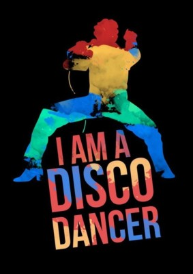 Athah Poster I Am A Disco Dancer Mithun Rolled Paper Print