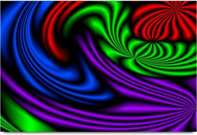 Dj Lights on Curved Surface Pattern Paper Print