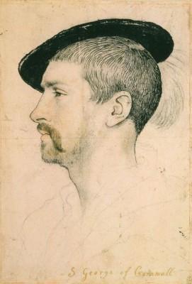 Portrait of Simon George. c.1535-37 (Medium) Paper Print