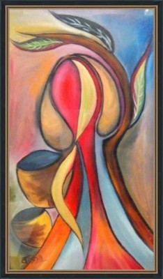Lady With Pots - ArtsNyou Printed Paintings Canvas Art