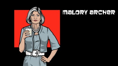 Wall Poster TVShow Archer Malory Archer Paper Print