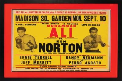 M Ali Vs K Norton Paper Poster 12