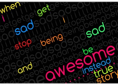 Be Awesome Poster (18 x 12 Inches) by Shopkeeda Paper Print