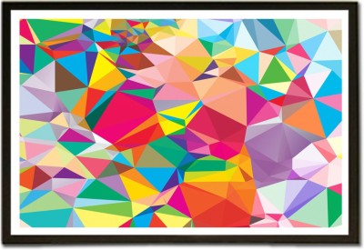Framed Colorful 3D Sharp Random Pattern Paper Print