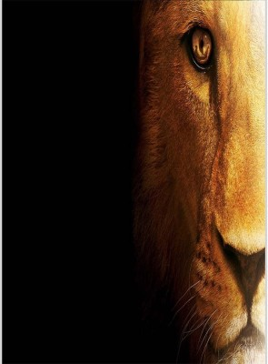 Lion Wallpaper Poster (12 x 18 Inches) by Shopkeeda Paper Print
