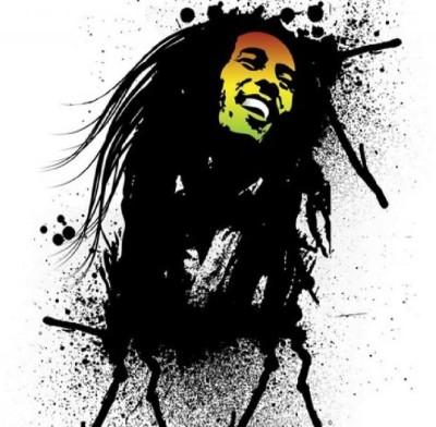 Go Hooked Bob Marley Splatter Poster Paper Print