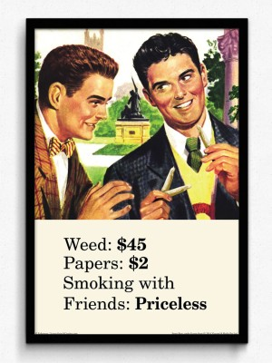 bCreative Weed Papers Smoking With Friends (Officially Licensed) Framed Paper Print