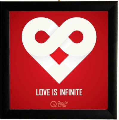 Love Is Infinite Square Framed Poster by QuoteSutra Paper Print