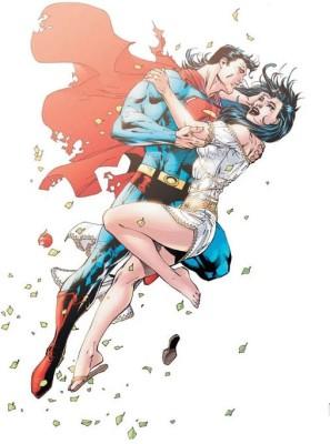 Superman Lois Lane Frameless Fine Quality Poster Paper Print