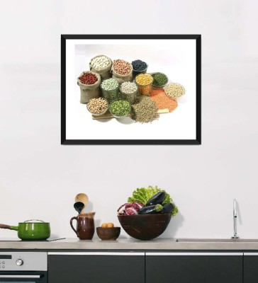 Tallenge Art For Kitchen - Healthy Food For A Healthy Life - Framed Art Print On Photographic Paper