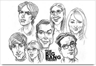 The Big Bang Theory sketch Paper Print