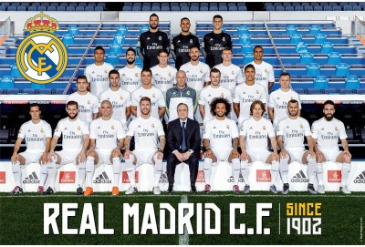 Real Madrid C.F. Large Poster Club 44 Paper Print(24 inch X 36 inch, Rolled)