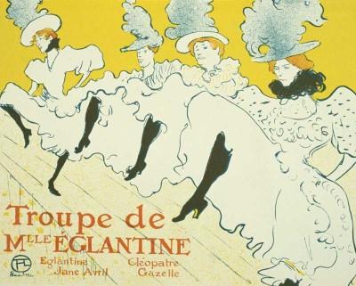 The Museum Outlet - Art Postcard - Troupe de Mlleeglantine Fine Art Print