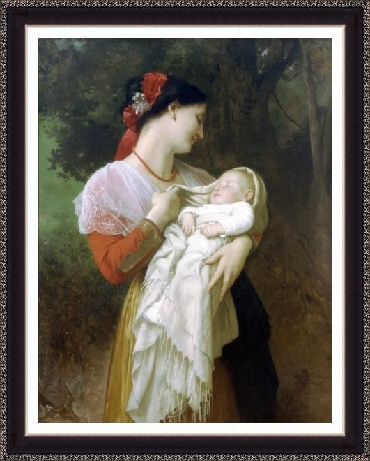 Maternal Admiration - ArtsNyou Printed Paintings Canvas Art