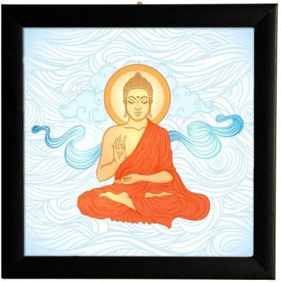 Blessing Buddha Square Framed Poster Paper Print