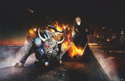 Athah Poster Bull Rider HD Paper Print