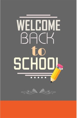 Athah Poster Welcome Back To School Paper Print