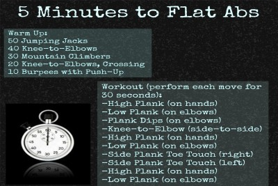 Five Minutes To Flat Abs Paper Print