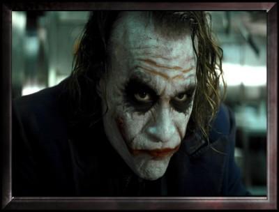 Serious Mood of Joker Canvas Art