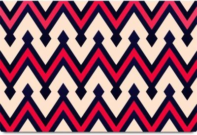 Zig-Zag Sharp Lined Pattern Paper Print