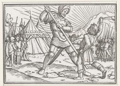 David beats Goliath. 1538 (Medium) Paper Print