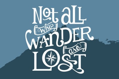 Motivational Quote Poster ,Not All Who Wander Are Lost, Paper Print