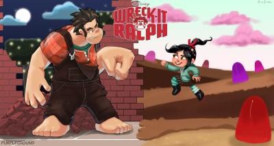 Movie Wreck-It Ralph Wreck-it Ralph Ralph Vanellope Von Schweetz Schweetz Logo HD Wall Poster Paper Print