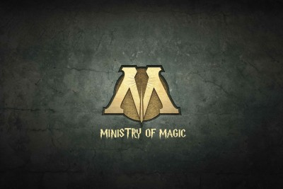 Athah Comic Poster Ministry Of Magic Logo And Tet Paper Print Rolled Paper Print