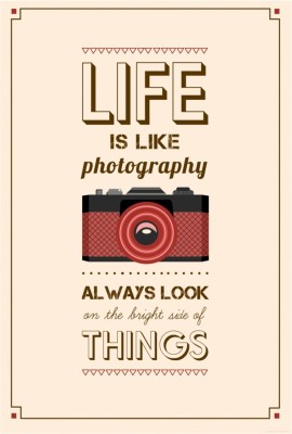 Athah Poster Life is like photography Paper Print