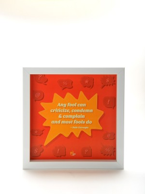 Thinkpot Any fool can criticize, condemn - Dale Carnegie White Box Frame Paper Print