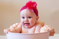 Child's Love - Cute Baby in a Bucket (2) Paper Print(12 inch X 18 inch)