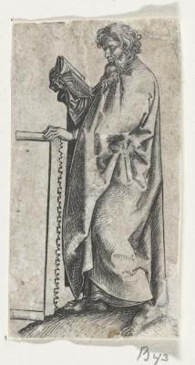 Apostle Simon 2. 1470-1490 (Medium) Paper Print