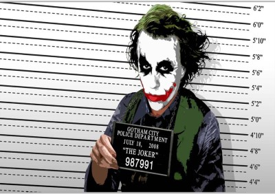 The Joker Poster (18 x 12 Inches) by Shopkeeda Paper Print