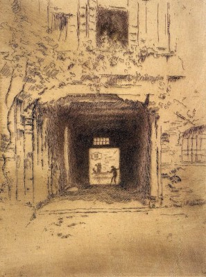 Doorway and Vine by Whistler Fine Art Print