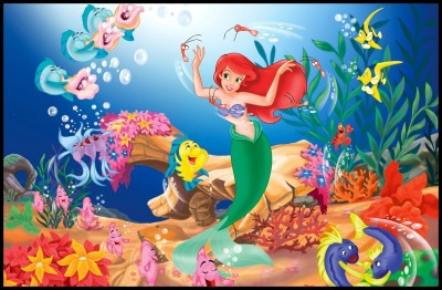 the little mermaid Poster Paper Print