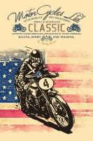 Motor Cycles Ltd. Vintage Style poster Paper Print