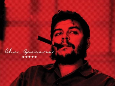 Che Guevara Smoking Cigar Paper Print(18 inch X 24 inch, Rolled)
