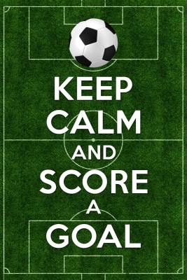 Keep Calm And Score A Goal Paper Print