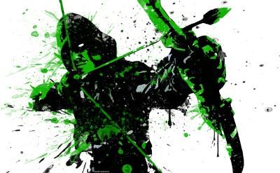 Arrow Green Arrow Frameless Fine Quality Poster Paper Print