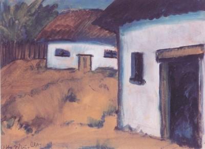 Otto Mueller - Zigeunerhutten - ca1928 (Medium) Paper Print