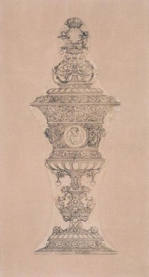 Design for a Cup for Jane Seymour. 1536-39 by Hans Holbein the Younger and Workshop (Medium) Paper Print